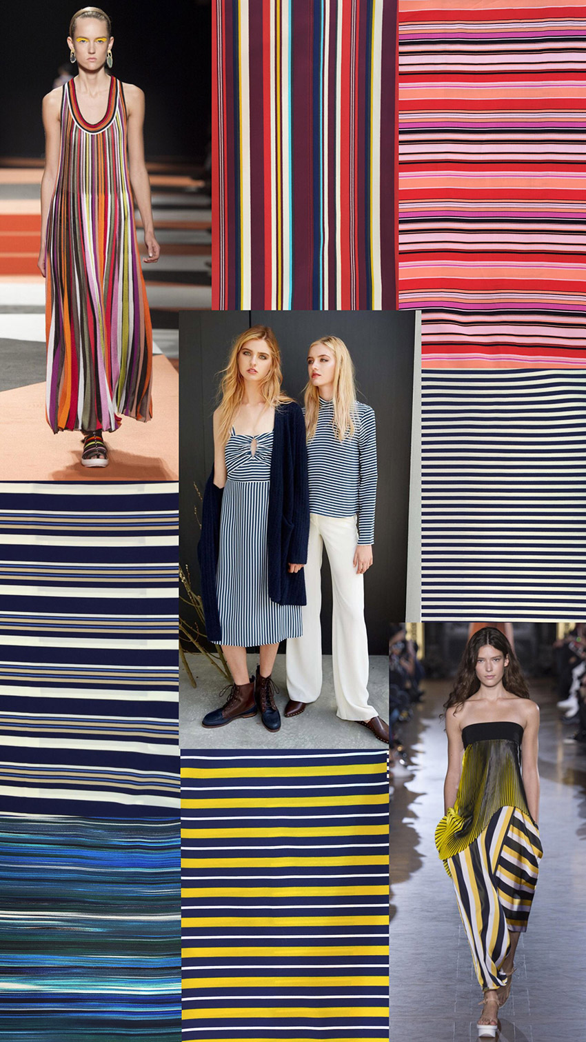 Summer stripe trend collections