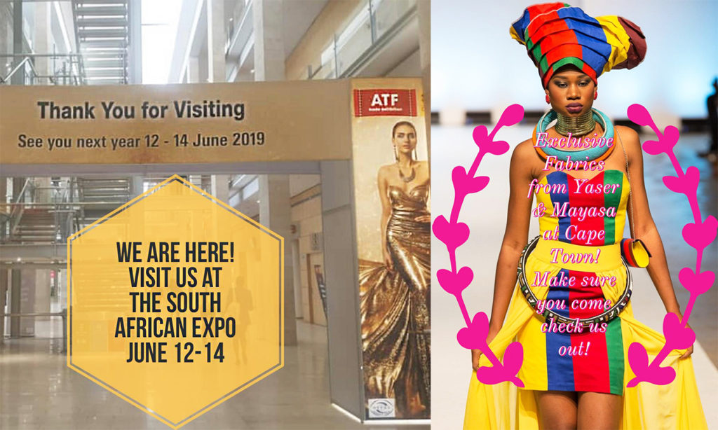 South African Expo June 12-14,2019 - Yaser and Mayasa Co